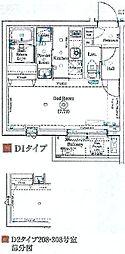 ANNEX椎名町 2階1Kの間取り