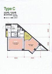 COZY  PLACE NAGAO[203号室]の間取り