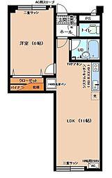 桑島ビルA[802号室]の間取り