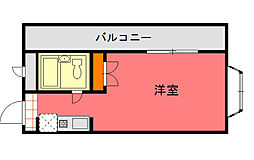 ドムール平塚第3[605号室]の間取り