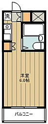パル京南17 1階ワンルームの間取り