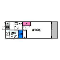 サムティ都島北通 9階1Kの間取り