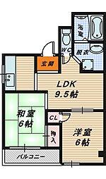 メゾンドールDOI[2階]の間取り