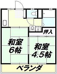 ハイツ寿賀[2階]の間取り