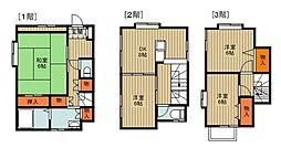 西武新宿線 入曽駅 徒歩20分の賃貸一戸建て 4DKの間取り