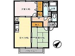 コニファーガーデン 1棟[2階]の間取り