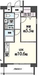 ヴィンテージ箱崎東[3階]の間取り
