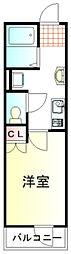 東武東上線 鶴ヶ島駅 徒歩7分の賃貸アパート 3階1Kの間取り