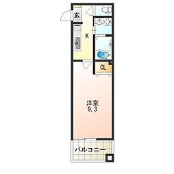 レクラン七道[8階]の間取り