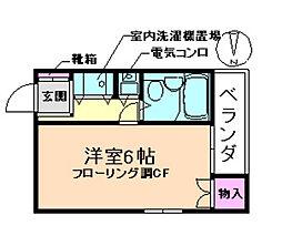 プライムハウス豊南[2階]の間取り