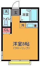 エル・カーサ本八幡[102号室]の間取り