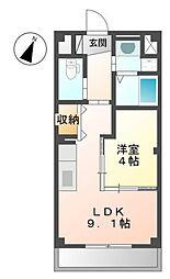JR飯田線 船町駅 徒歩1分の賃貸マンション 1階1LDKの間取り