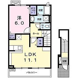 静岡県静岡市葵区千代田2丁目の賃貸アパートの間取り