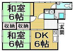 吉村アパート[202号室]の間取り