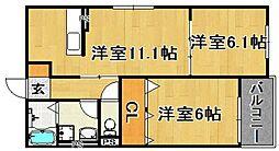 (仮)多々良IIアパート[103号室]の間取り