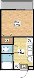 modern palazzo扇町[1階]の間取り