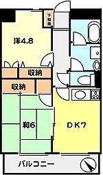 T−net ドエルY[5階]の間取り