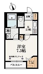 東京メトロ有楽町線 小竹向原駅 徒歩2分の賃貸マンション 3階1Kの間取り