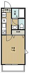 さいたま市北区日進町2丁目新築PJ 2階1Kの間取り