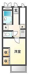 愛知県岡崎市昭和町字神郷の賃貸アパートの間取り