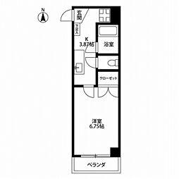 東京都国立市富士見台4丁目の賃貸マンションの間取り