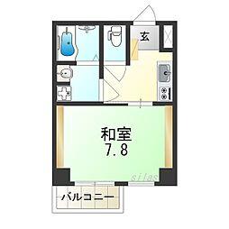 TOYOTOMI STAY PREMIUMNAGAHASHI 8階1Kの間取り