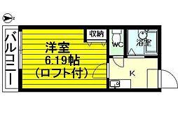 レジデンス七隈[108号室]の間取り