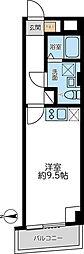 都営浅草線 馬込駅 徒歩5分の賃貸マンション 5階ワンルームの間取り