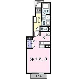 フォレストヒルズ2号館[102号室]の間取り