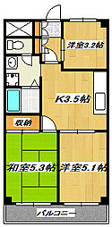 東京都葛飾区柴又6丁目の賃貸マンションの間取り