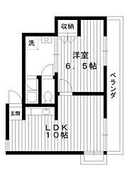 東京都練馬区桜台4丁目の賃貸アパートの間取り