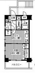 BAY WEST[5階]の間取り
