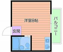 大阪府大阪市旭区高殿3丁目の賃貸マンションの間取り