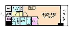 コンフォリア京町堀[3階]の間取り
