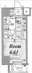 JR山手線 池袋駅 徒歩4分の賃貸マンション 7階1Kの間取り