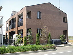 栃木県真岡市上大沼の賃貸アパートの外観