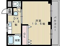矢森第1マンション[2階]の間取り