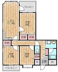 マンシオン・タイラ[9階]の間取り