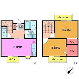 [テラスハウス] 千葉県船橋市前原西7丁目 の賃貸【/】の間取り