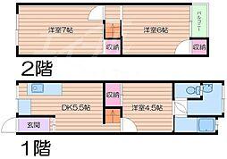 [一戸建] 大阪府守口市来迎町 の賃貸【/】の間取り