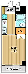 兵庫県神戸市須磨区須磨寺町3丁目の賃貸マンションの間取り