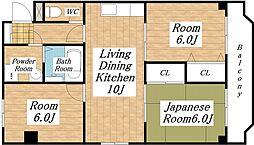 タツミ第6ハイツ本館[5階]の間取り