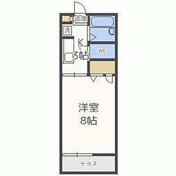 サンハイム26A[206号室]の間取り
