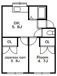 メゾンパーシモン[1階]の間取り