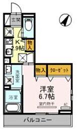 JR京浜東北・根岸線 大宮駅 徒歩21分の賃貸アパート 2階1Kの間取り