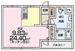 サンドール9番館[1階]の間取り