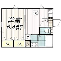 千葉県千葉市中央区新千葉2丁目の賃貸アパートの間取り