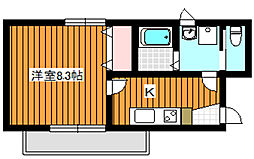 東京メトロ有楽町線 平和台駅 徒歩5分の賃貸マンション 1階1Kの間取り
