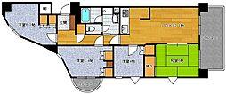 ロワールマンションアール板付弐番館[8階]の間取り