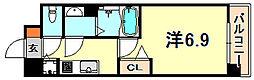 JR東海道・山陽本線 灘駅 徒歩5分の賃貸マンション 3階1Kの間取り